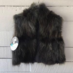 Adrienne Landau Raccoon Fur Vest
